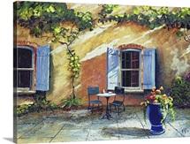 Shuttered Windows, Provence, France, 1999 (oil on board)
