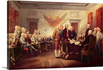 Signing the Declaration of Independence, 4th July 1776, c.1817