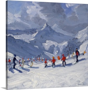 Ski School Tignes 2009 Wall Art Canvas Prints Framed