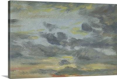 Sky Study, Sunset, 1821-22