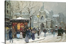 Snow Scene in Paris