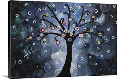 Solo Blue Dream Tree Spiral Night