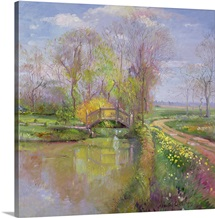 Spring Bridge, 1992 (oil on canvas)