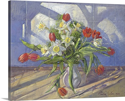 Spring Flowers with Window Reflections, 1994