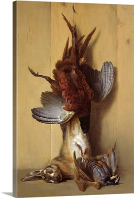 Still Life with a Hare, a Pheasant and a Red Partridge, 1753