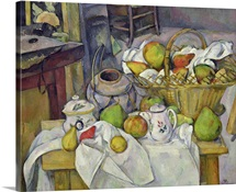 Still life with basket, 1888 90 (oil on canvas)
