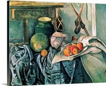Still Life with Pitcher and Aubergines (oil on canvas)