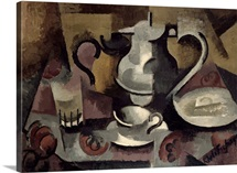 Still Life with Three Handles (oil on canvas)
