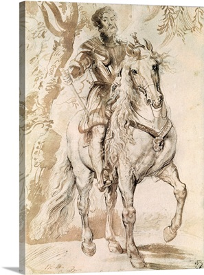 Study for an equestrian portrait of the Duke of Lerma (1553-1625) 1603