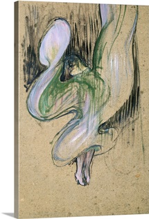 Study for Loie Fuller (1862 1928) at the Folies Bergeres, 1893 (oil on cardboard)