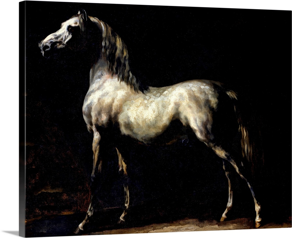 1814 Théodore Géricault Officer of the Hussars Horse Art on Canvas