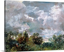 Study of Sky and Trees (oil on canvas)