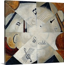Symphony, 1915 (oil on canvas)