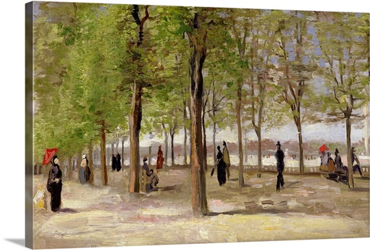 Terrace in the Luxembourg Garden, 1886
