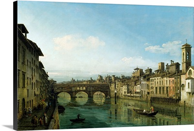 The Arno in Florence with the Ponte Vecchio, c.1745