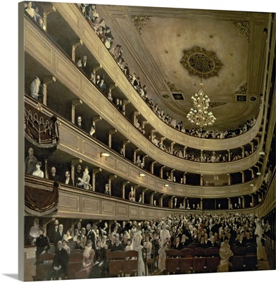 The Auditorium of the Old Castle Theatre, 1888