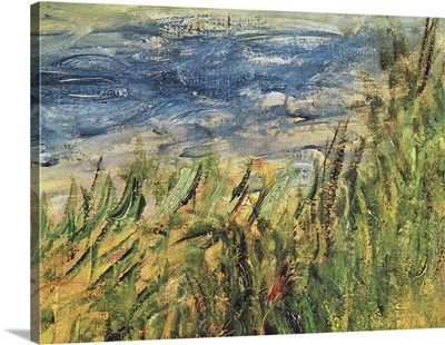 The Banks Of The Seine At Champrosay, Detail Of The Water And Grass, 1876