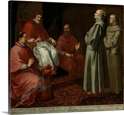 The Blessed Giles Before Pope Gregory IX, C1645-1646