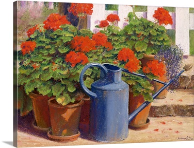 The blue watering can, 1995