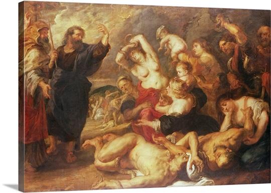 The Brazen Serpent, c.1635 40 (oil on canvas)