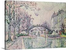 The Canal Saint-Martin, 1933 (oil on canvas)
