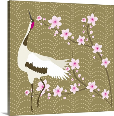 The Cherry Blossom And The Crane