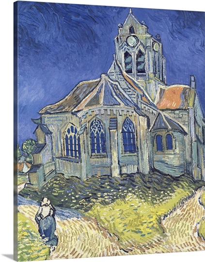 The Church at Auvers sur Oise, 1890 (oil on canvas)