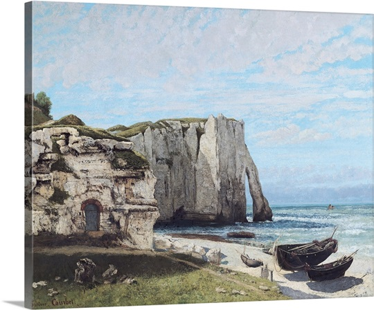 The Cliffs at Etretat after the storm, 1870 (oil on canvas)