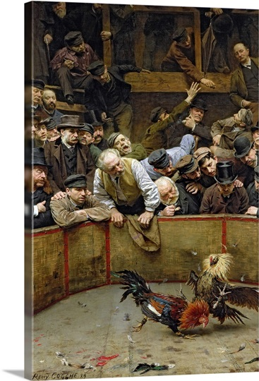 The Cockfight, 1889 (oil on canvas)