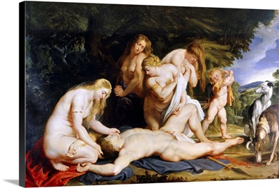 The Death of Adonis (with Venus, Cupid and the Three Graces) c.1614