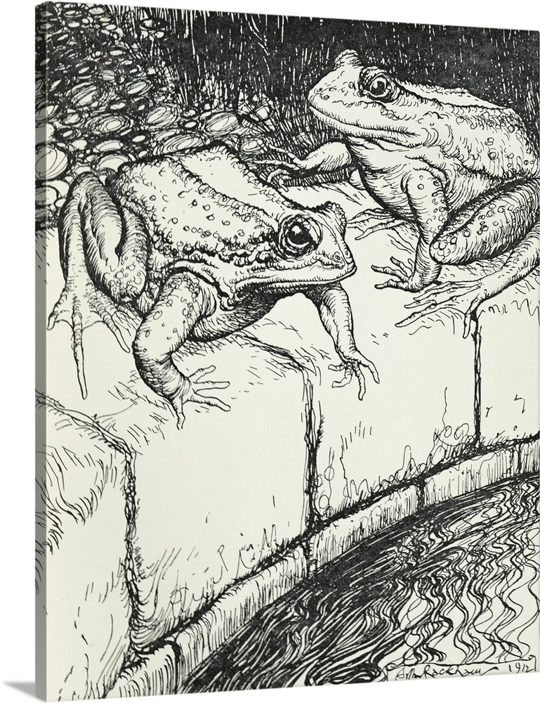 The Frogs and the Well, illustration from Aesop's Fables on lords of the fallen world map, sacred 3 world map, infamous second son world map, bound by flame world map, witcher 2 world map, grim dawn world map, diablo world map, battlefield 4 world map, majoras mask world map, fable 2 brightwood map, fable anniversary map, the last of us world map, the walking dead world map, fable 1 map, the sims 4 world map, faerun world map, two worlds world map, the legend of korra world map, need for speed rivals world map, fable iii map,