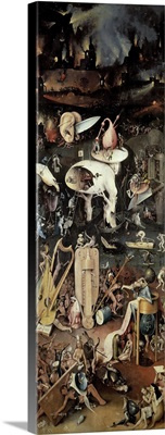 The Garden of Earthly Delights: Hell, right wing of triptych, c.1500