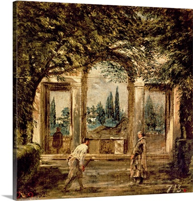The Gardens of the Villa Medici in Rome, c.1650-51