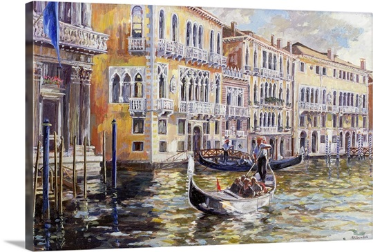 The Grand Canal In The Late Afternoon Wall Art Canvas