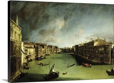 The Grand Canal, View of the Palazzo Balbi towards the Rialto Bridge, 1724