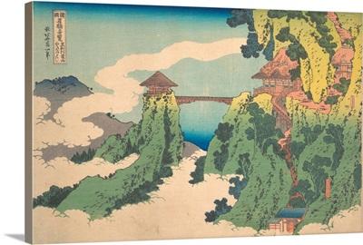 The Hanging-Cloud Bridge At Mount Gyodo Near Ashikaga