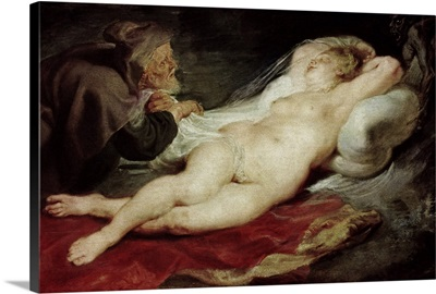 The Hermit And The Sleeping Angelica, 1626-28