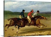 The Horse Race (oil on canvas)