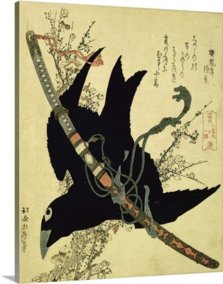 The Little Raven with the Minamoto clan sword, c.1823