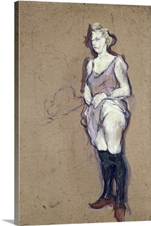 The Medical Inspection: Blonde Prostitute, 1894 (oil on card)