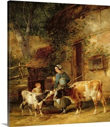 The Milkmaid, 1840 (oil on canvas)