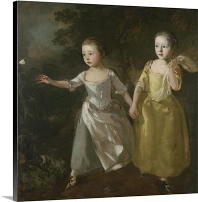 The Painter's Daughters chasing a Butterfly, c. 1756