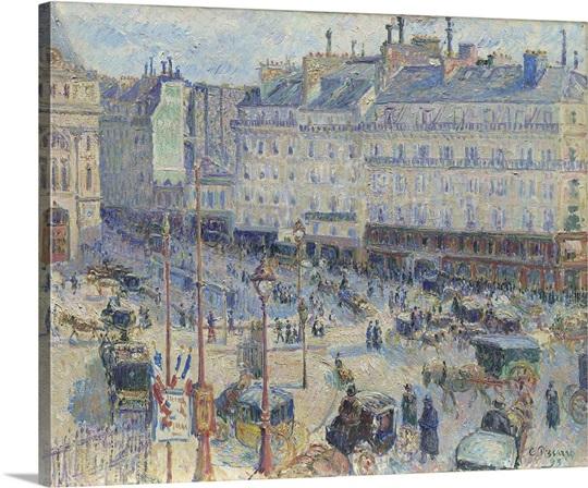 The Place du Havre, Paris, 1893 Wall Art, Canvas Prints, Framed ...