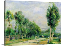 The Road to Versailles at Louveciennes (oil on canvas)