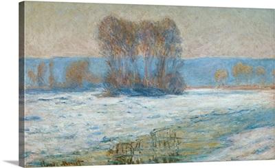 The Seine at Bennecourt, Winter