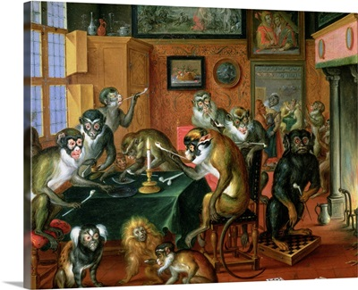 The Smoking Room with Monkeys