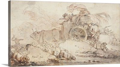 The Stalled Cart, 1759