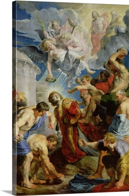 The Stoning of St. Stephen, from the Triptych of St. Stephen