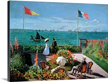 The Terrace at Sainte Adresse, 1867 (oil on canvas)