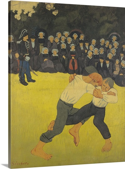 The Wrestling Bretons, c.1893 (oil on canvas)